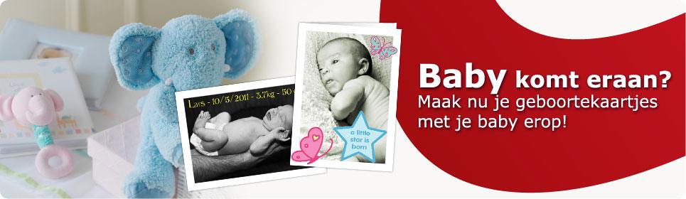 Maak nu je geboortekaartjes met je baby erop!